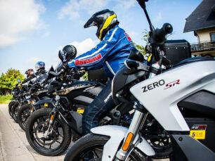 Das Bild zeigt einige Motorräder unseres Presseevents zum Thema E-Mobilität.
