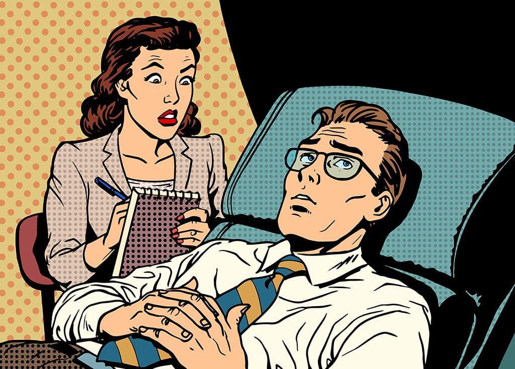 Das Bild zeigt eine Sitzung beim Psychologen. Der Artikel erklärt wie schwer gute Beziehungsarbeit sein kann.