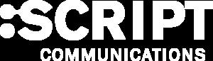 Logo unserer Schesteragentur SCRITP Communications. Klick aufs Bild führt zur Webseite von SCRIPT Communications.