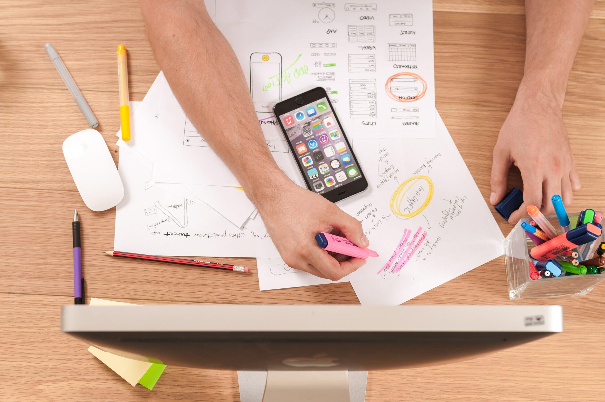 Bild eines digitalen Arbeitsplatzes